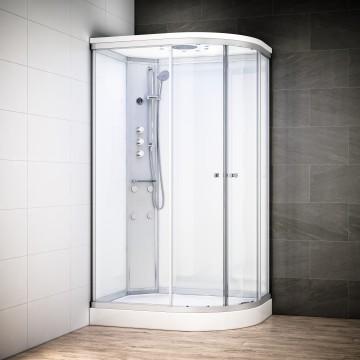 cabine de douche integrale 120x90 d angle silver. Black Bedroom Furniture Sets. Home Design Ideas