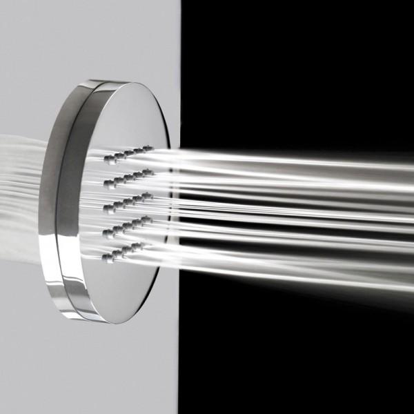 Cabine douche hammam neptune silver asym trique 120 x 90 cm gauche - Cabine de douche hydromassante avec radio ...