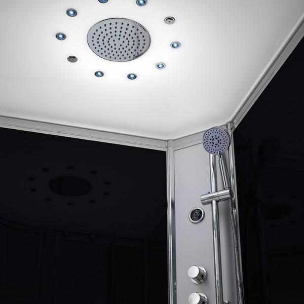 cabine de douche integrale 80x80 d angle silver