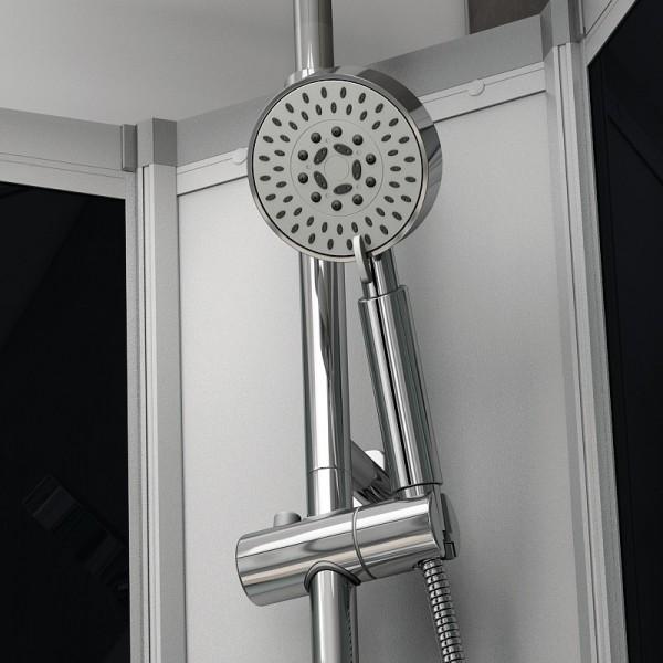 Cabine douche integrale neptune silver 1 4 de rond 80 x 80 cm - Soldes cabine de douche ...